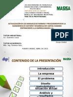 Actualizacion Manuales Normas y Procedimientos Subgerencia Gestion y Desarrollo Capital Humano