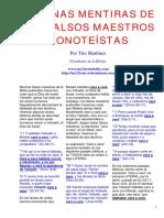 Algunas Mentiras de Los Falsos Maestros Monoteístas
