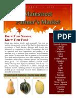 Farmers Market Newsletter