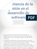 Importancia de la Gestion de Desarrollo de Software
