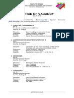 ZAMBOECOZONE Notice of Vacancy - May 2016