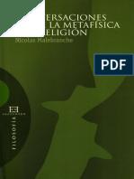Nicolas Malebranche - Conversaciones Sobre La Metafísica y La Religión