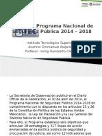 Programa Nacional de Seguridad Pública 2014 – 2018