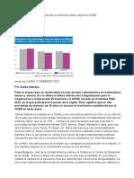 Perú El Peor Rendimiento Escolar en América Latina