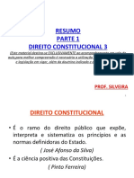 Direito Constitucional III Professor SILVEIRA
