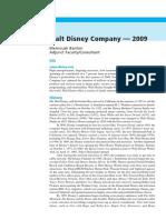 Case 1 - Walt Disney - 2009