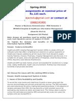 MH0053-Hospital & Healthcare Information Management