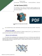 FCC. Estructuras Cristalinas