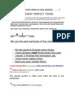 Present Perfect Tense 2