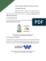 Listado de Normativa Laboral y de Gestión de Talento Humano Vigente en El Ecuador