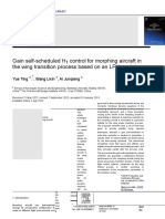 Gain self-scheduled H1 control for morphing aircraft in.rtf