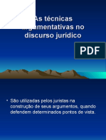 As Tc3a9cnicas Argumentativas No Discurso Jurc3addico Em Slides