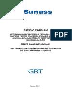 Estudio Tarifario Huancavelica