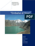 Informe Embalse El Yeso