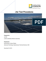 Solar Pv Inverter Test Procedures