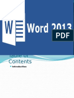 MS Word 2013 presentation