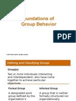 Foundations of Group Behavior