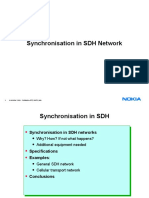 Synchronization in SDH network