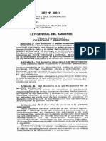 Ley 28611 Ley General Del Medio Ambiente