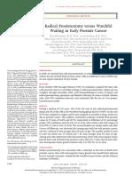 Radical Prostatectomy Versus Watchful