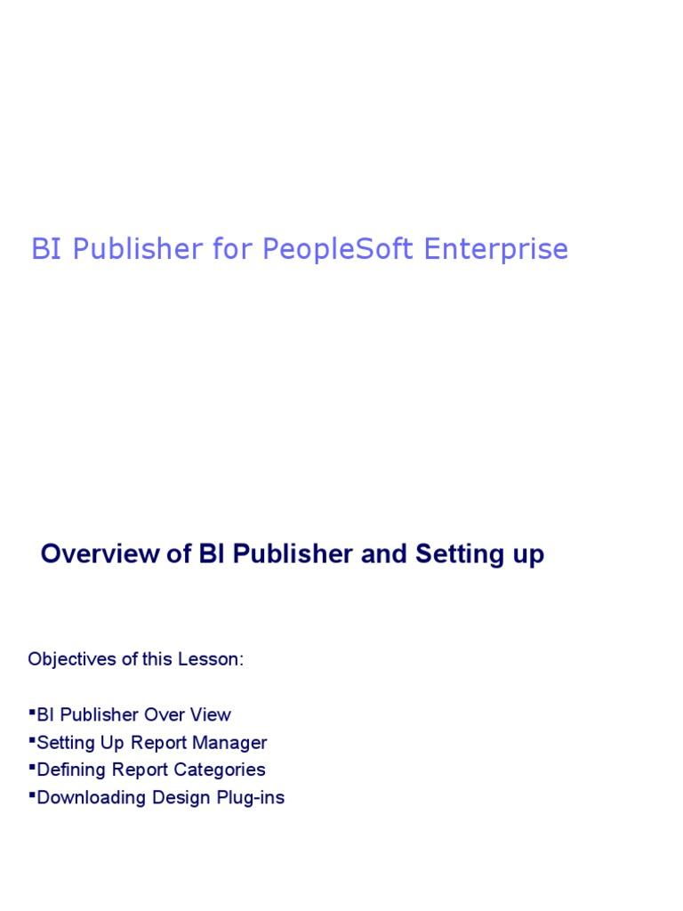 BIPublisher ppt | Portable Document Format | Xml Schema
