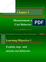 Measurement of Cost Behaviour