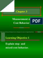 Measurement of Cost Behaviour