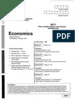 2011 Economics TrialHSC CSSA