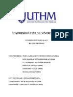 Compression Test of Concrete Cube