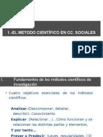 1-(a) El Metodo Científico en Las CC Sociales