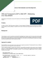 DB2 and Transparent LDAP in DB2 DPF – Misleading Error SQL30082N – Db2talk