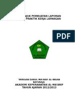 PETUNJUK PEMBUATAN LAPORAN AKHIR PKL 2013.doc