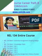 REL 134 Course Career Path Begins Rel134dotcom