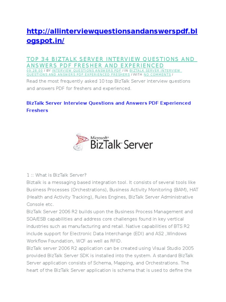 biztalk interview questions answers pdf videos ios most commonly asked interview question and answers
