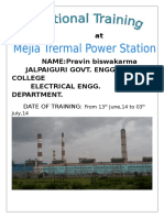 Report on Mejia Thermal Power Plant Dvc