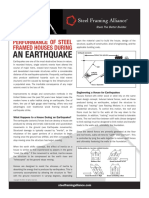 Earthquake performance of steel structures
