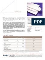 PTFE (Polytetrafluoroethylene) Data Sheet