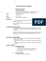 Hazim Dmour Faculty Resume