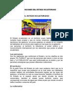 Elementos y Funciones Del Estado Ecuatoriano
