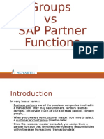 SAP Customer Account Groups vs SAP Partner Functions (1)