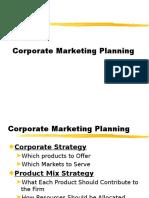 Corporate Marketing Planning