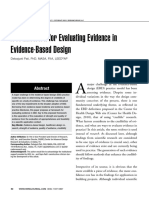 A Framework for Evidence Based Design
