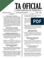 Gaceta Oficial Número 40.915 de la República de Venezuela, 31 de mayo de 2016