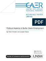P. Kriesler and J. Halevi - Political Aspects of Buffer Stock Employment