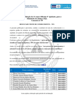 Resultado Prova de Conhecimento Recrutamento n59 2015 Oficial 4º Ajudante RNI MJ