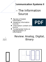 Topic 2 - The Information Source
