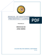 Manual Mantenimiento Preventivo y Correctivo