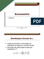 Econometria - Inferência