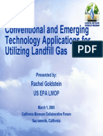 Conventional and Emerging Technology Applications for Utilizing Landfill Gas