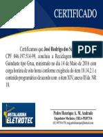 Certificado Grua Jose Rodrigo Dos Santos
